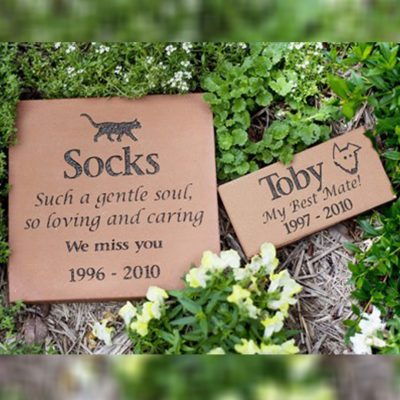 Memorial garden headstone plaque pet loss
