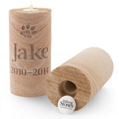 Memorial garden candle keepsake pet loss