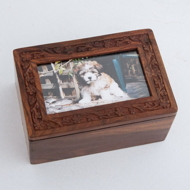 Wooden Boxes Cat Ashes