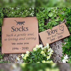 Memorial garden headstone plaque pet loss