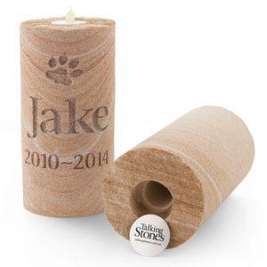 Memorial garden candle keepsake pet loss
