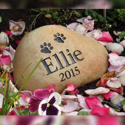 Memorial garden stone headstone plaque pet loss